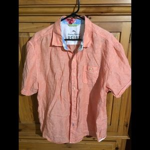 #3. Tommy Bahama Salmon button up